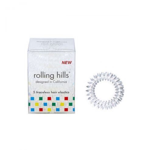 Rolling Hills Professional Hair Rings 5pc Transparent