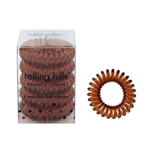 Rolling Hills Professional Hair Rings 5pc Coffee